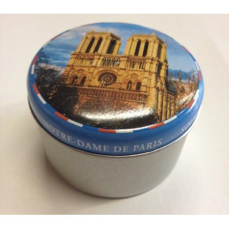 Pack 2 Boîtes Métals de bougies flottantes à l'huile collector j'aime Paris & Notre Dame de Paris