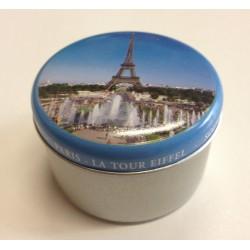 Pack 2 Boite Metal boigie a l'huile flottante  J'aime Paris & Tour Eiffel
