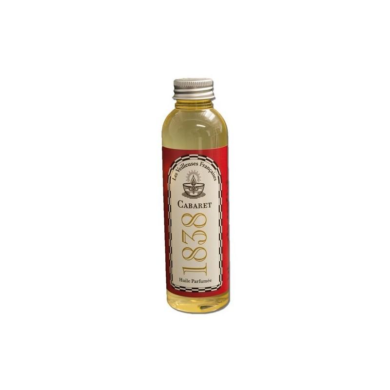 """Flacon d'huile végétale parfumée """"CABARET 1838"""""""