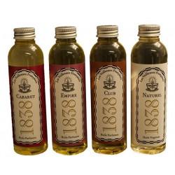 """Coffret découverte 4 Flacons d'huiles végétales parfumées et naturelle """"CABARET 1838"""" """"CLUB 1838"""" """"EMPIRE 1838""""""""NATUREL 1838"""""""